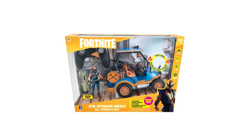 FORTNITE RC Deluxe Feature Fahrzeug ATK mit Spielfigur Stinger