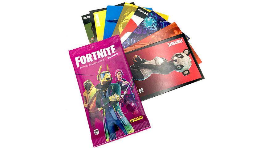 Panini Fortnite Reloaded Trading Cards Pocket Tin Box mit 3 Packs