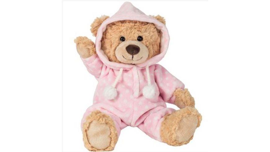 Teddy-Hermann - Schlafanzugbär rosa 30 cm