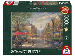 Schmidt Spiele Erwachsenenpuzzle Cafe in Muenchen Thomas Kinkade 1000 Teile