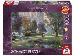Schmidt Spiele Erwachsenenpuzzle Weg des Glaubens Thomas Kinkade 1000 Teile
