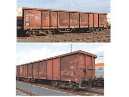 PIKO 58383 2er Set Offene Gueterwagen Eaos x 051 DB AG VI