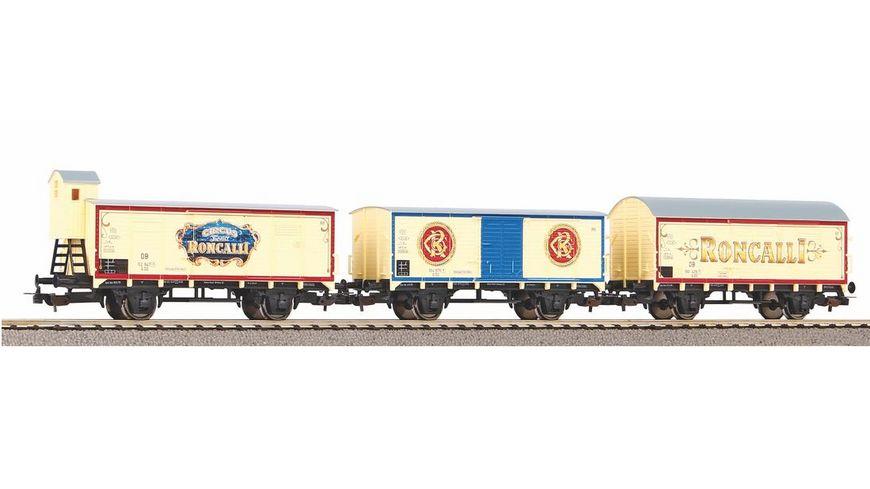 "PIKO 58374 - 3er Set Güterwagen ""Roncalli"" DB III"