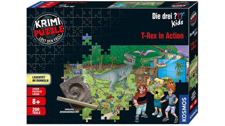KOSMOS - Krimi-Puzzle: Die drei ??? Kids - T-Rex in Action