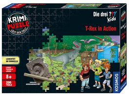 KOSMOS Krimi Puzzle Die drei Kids T Rex in Action