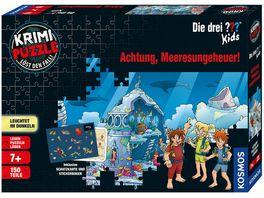 KOSMOS Krimi Puzzle Die drei Kids Achtung Meeresungeheuer Loest den Fall