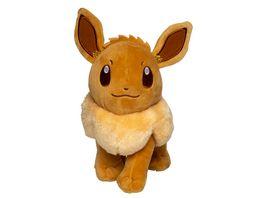 Pokemon Evoli Monochrom Pluesch 20 cm