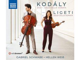 Sonata for Solo Cello Duo for Violin and Cello