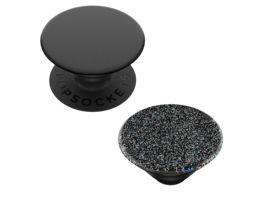 PopSockets PopSockets PopGrip 2 in 1 Black PopTop Glitter Black