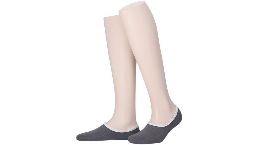 MOVE UP Damen Füßlinge mit Glitzerabschlussbund
