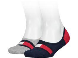 TOMMY HILFIGER Kinder Sneaker Socken Hilfiger Footie 2er Pack