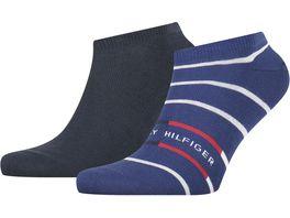 TOMMY HILFIGER Herren Sneaker Socken Breton Stripe 2er Pack
