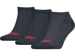 Levis Unisex Sneaker Socken Low Cut Batwing Logo 3er Pack