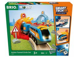BRIO Bahn Grosses Smart Tech Reisezug Set mit Action Tunnels