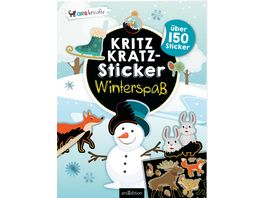 Kritzkratz Sticker Winterspass