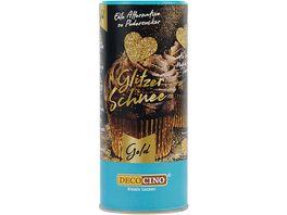 DECOCINO Glitzer Schnee Gold