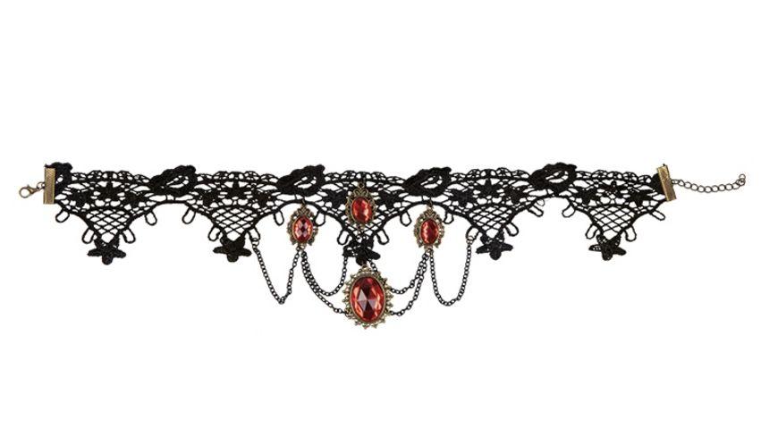 Rubies - 6140839 - Gothic Kette mit roten Steinchen