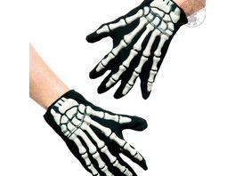 Rubies 6302604 Handschuhe mit Skelett Applikation