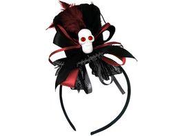 Makotex Haarreif Minihut schwarz rot 990992119