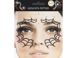 Makotex Gesichts Tattoo Spinnennetz 998987879 4