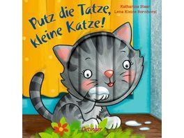 Putz die Tatze kleine Katze