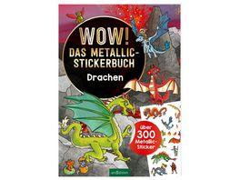 Wow Das Metallic Stickerbuch Drachen ueber 300 Metallic Sticker