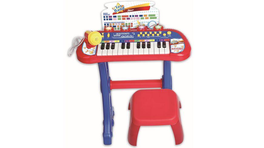 Bontempi Elektronisches Keybord mit Stuhl und Mikrofon