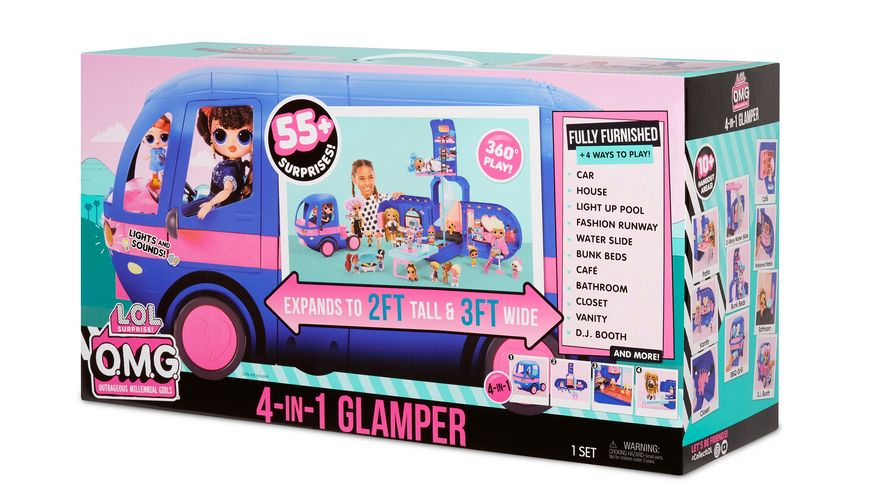 LOL Surprise 4 in 1 Glamper Electric Blue