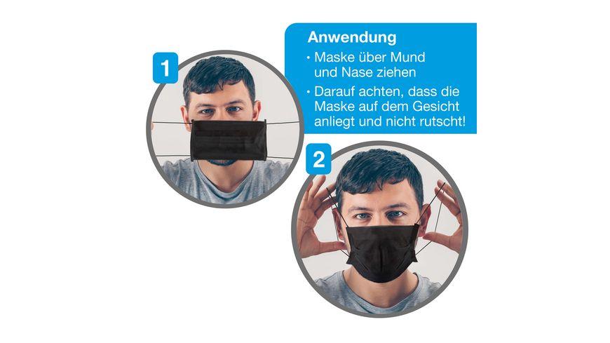 Craze Mund Nasen Schutz Schwarz