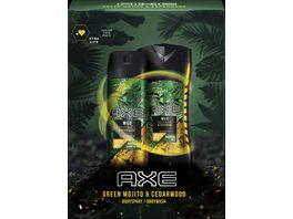 Axe Geschenkset Wild Green Mojito Cedarwood Bodyspray Duschgel