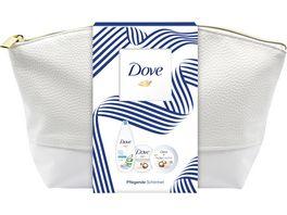 Dove Geschenkset Duschgel Dusch Peeling und Body Yoghurt mit Washbag