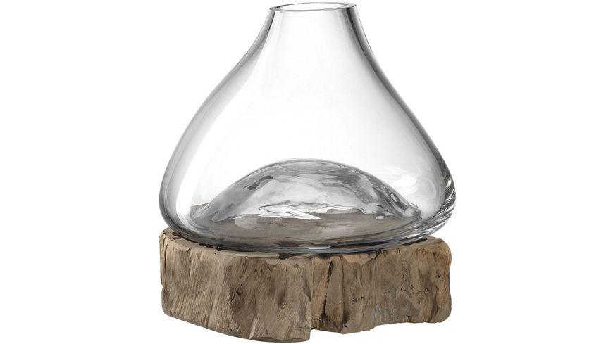 LEONARDO Vase auf Holz Casolare 21x20 cm