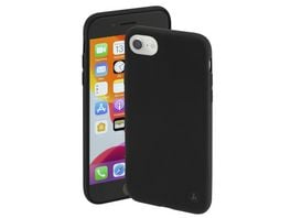 Hama Cover Finest Feel fuer Apple iPhone 6 6s 7 8 SE 2020 Schwarz