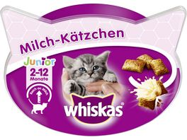 WHISKAS Becher Milch Kaetzchen 2 12 Monate 55g
