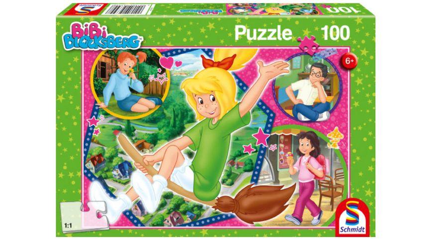 Schmidt Spiele - Kinderpuzzle - Bibi Blocksberg - Hex-hex, 100 Teile