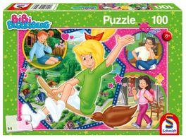 Schmidt Spiele Kinderpuzzle Bibi Blocksberg Hex hex 100 Teile
