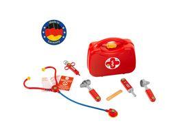 Theo Klein 4265 Doktorkoffer mit Zubehoer I Stethoskop Spritze Thermometer u v m I Masse 21 5 cm x 9 cm x 20 cm I Spielzeug fuer Kinder ab 3 Jahren