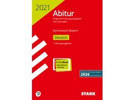 Abiturpruefung Bayern 2021 Deutsch Ausgabe mit ActiveBook nur online erhaeltlich