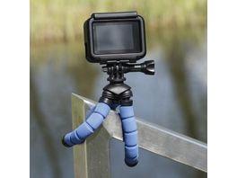 Hama Ministativ Flex fuer Smartphone und GoPro 14 cm Blau