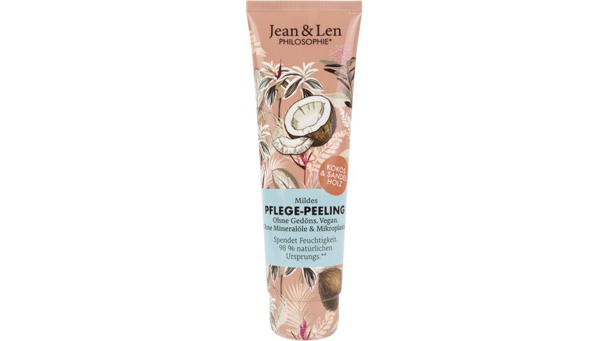 Jean&Len Pflege-Peeling Kokos/Sandelholz