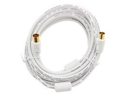 Hama Antennen Kabel Koax Stecker Koax Kupplung 100 dB Filter vergoldet 5 m