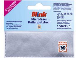 Blink Microfaser Brillenputztuch weiss mit Motiv