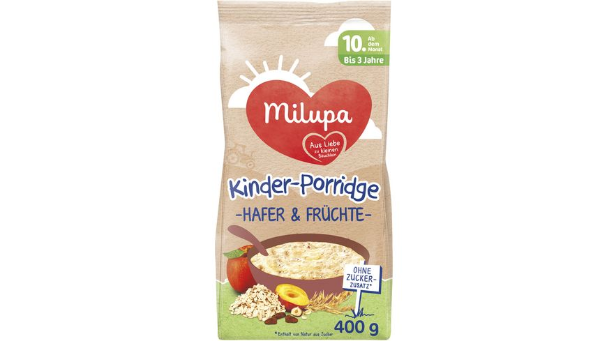 Milupa Kinder Porridge Hafer Fruechte