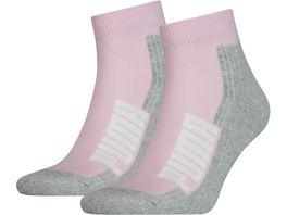 PUMA Socken Unisex Cushioned Quarter 2er Pack