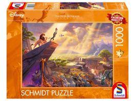 Schmidt Spiele Erwachsenenpuzzle Koenig der Loewen Thomas Kinkade 1000 Teile