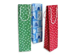BRAUN COMPANY Geschenktasche Weihnachten12x36x10cm Sortierung 2er Pg