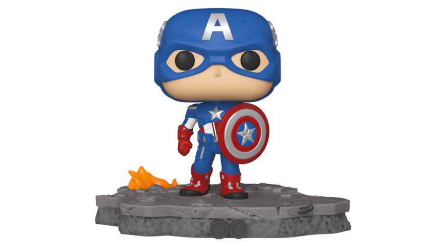 Funko POP Marvel Avengers Assemble Captain America Bobble Head Figur