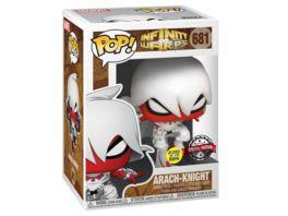 Funko POP Marvel Infinity Warps Arach Knight Glow in the dark Bobble Head Figur