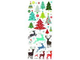 folia Glitzer Sticker CHRISTMAS