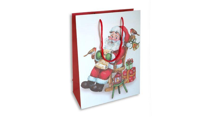 BRAUN+COMPANY Geschenktasche Weihnachten 20x28x10cm Nikolaus